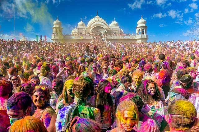 Holi is a spring festival in India and Nepal, also known as the festival of colours or the festival of sharing love.